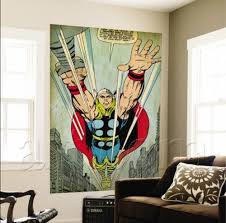 Superhero Comic Wall Decor by Marvel Comics Retro Wall Murals Geek Decor Home Decor For