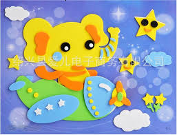 Children Puzzle Foam Sheet Paper Clipart Art Works EVA Sponge Kids Play And Craft DIY Materials Sticker Toy Child H141 In Mens Costumes From