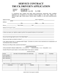 100 Truck Driver Jobs In Miami S Application For Employment 5 Pack Item 691 Ing The