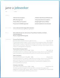 Resume Template Hospitality Example Industry