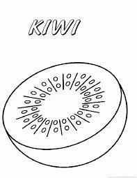 Kiwi Fruit Coloring Pages