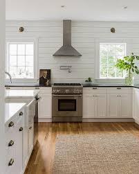 kitchen with horizontal shiplap backsplash cottage kitchen