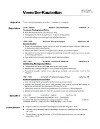 Photographer Sample Resume Format Unique Examples Perfect Highlights Throughout Of Useful Add Fashion