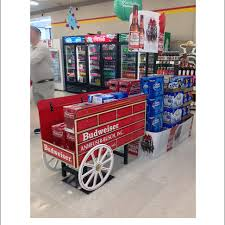 Budweiser Beer Cart Stacker Floor Display