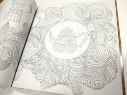 SALE Couple Coffee Cup Cafe Adult Coloring Book