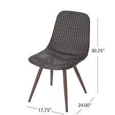 Gilda | Outdoor Wicker Dining Chairs With Dark Brown Legs | Set Of 2 | In  Multibrown Lotta Ding Chair Black Set Of 2 Source Contract Chloe Alinum Wicker Lilo Chairblack Rattan Chairs Uk Design Ideas Nairobi Woven Side Or Natural Flight Stream Pe Outdoor Modern Hampton Bay Mix And Match Brown Stackable