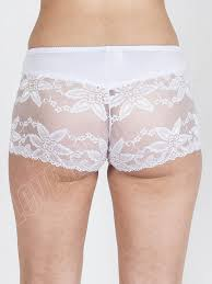 new womens ladies big flower french lace boxer shorts