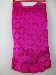 Pink Satin Glitter Mini 18 Christmas Tree Skirt Holiday Miniature Ugly Sweater