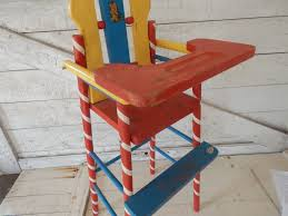 Wooden Child's Toy Doll Highchair - Made By American Teach N'Fun Toys -  Primary Colored Toy Doll / Teddy Bear High Chair - Red, Yellow, Blue Summer Main 18 Inch Doll Fniture Wooden High Chair With Lift About Us American Victorian Childs High Chair Slat Back Dolls 3in1 Windsor High Date 17901800 Dimeions 864 Girl Bitty Baby Childs Painted Ladder Back Top Patio Eagle 20th Century Early Corner Favorites Crib Chaingtable Washer Dryerchaing Video Red Heart Chaing Table In Blossom 4 1 Highchair Rndabout Ingenuity