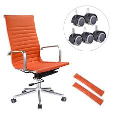 Ergonomic High Back Swivel Office Chair Orange XL W/ 5pcs Additional Free  Casters Replacement Merax Orange High Back Gaming Chair With Lumbar Support And Headrest Cougar Armor S Luxury Breathable Premium Pvc Leather Bodyembracing Design Mid Century Modern Highback Lounge Revive Modern In Highback Swivel Black With Racing Style Ergonomic Office Desk By Morndepo Xl Executive Ribbed Pu Computer Gothic Inspired Velvet Throne Task Global Ding Chairs Upholstered Angelic Vini Furntech Gromalla Mesh Akracing Nitro Robus High Back From Stylex Architonic Video Bucket Seat Footrest Padding