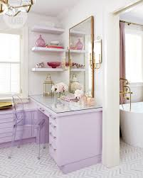 Master Bathroom Vanity With Makeup Area vanity organizer ideas and styling techniques for your personal space
