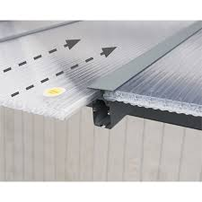 Palram Patio Cover Grey by Palram Feria Grey Patio Cover 3 X 3 05m At Homebase Co Uk