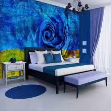 consalnet vliestapete blau gelbe floral