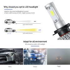 h1 72w car headlights canbus cob led hi lo beam headl fog