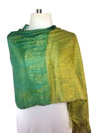 a special deal on a beautiful green silk scarf