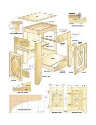 wooden file cabinet plans