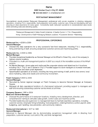 Restaurant General Manager Resume Sample Unique Fresh Manageresumeesumes Unfor Table Of