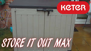Keter Woodland High Storage Shed by Keter Store It Out Max Garden Storage Box 1200l Youtube