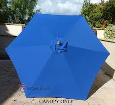 Walmart Patio Market Umbrellas by Patio Furniture 9ft 6 Ribs Royal Blue Canopy 1 Patio Umbrella