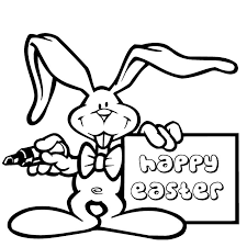 Easter Bunny Coloring Sheets Free