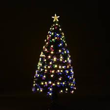 Pre Lit Multicolor Christmas Tree Sale by Homcom 7 5 U0027 Artificial Rotating Pre Lit Multicolor Star Led