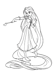 Tangled Coloring Pages Ideal Printable