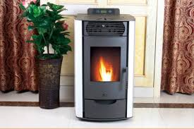 Grand Front View Auto Clean European Wood Pellet Stove With Remote Control
