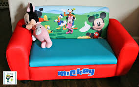 Mickey Mouse Flip Out Sofa by Being Mvp Mickey Mouse Upholstered Sofa For Tiny Tots To Chill On