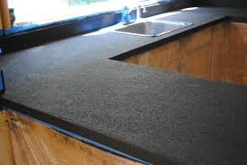 Rust Oleum Decorative Concrete Coating Slate by Kitchen Countertop Reveal Using The Rust Oluem Countertop