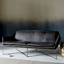 West Elm Rochester Sofa by Origami Leather Sofa Home Pinterest Leather Sofas Interiors