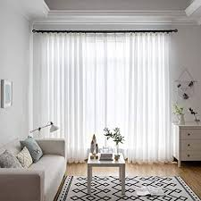 voile vorhang wohnzimmer stores gardinen mit de