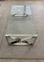 couchtisch glastisch wohnzimmertisch tisch wohnzimmer edelstahl