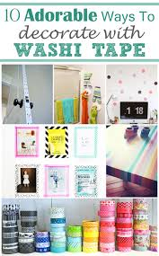 10 DIY Washi Tape Decorating Ideas To Add Color Your Home
