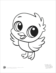 Baby Animals Coloring Pages Printable Sheets Cute Cartoon By Full Size