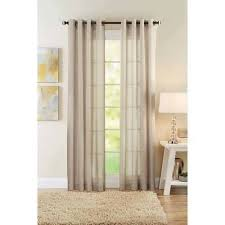 Walmart Mainstay Sheer Curtains by Better Homes And Gardens Semi Sheer Window Curtain Walmart Com