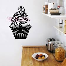 decor mural cuisine stickers cupcake cuisine vinyl wall decal wallpaper mural wall