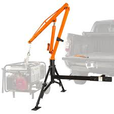 Apex Hitch-Mount Crane Hydraulic Pickup Truck Steel Jib Lift 1000 Lb ...