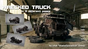 100 Wrecked Truck Truck Model In 3 Different Poses 3D CGTrader