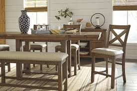 Moriville Counter Height Dining Room Bench Large