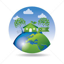 100 House Earth Green Earth With Go Green House And Tree Vector Image 1420283