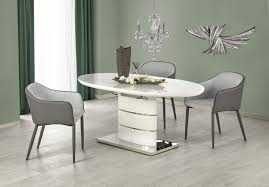 100 White Gloss Extending Dining Table And Chairs Zen High 140180cm