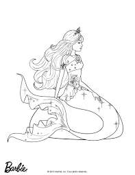 Mermaid Coloring Book Pages Printable Barbie Queen Of Hello Kitty Free Print Full Size
