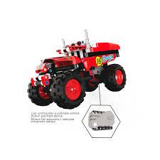 Technic Compatible Pull Back Car Toy Truck Enlighten Bricks Building ...
