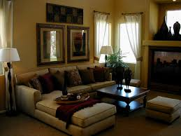 Home Decorating With Brown Couches by Decorating Ideas For A Small Apartment With Elegant Brown Sofa And