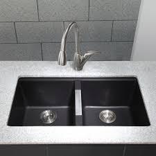 Corner Kitchen Sink Cabinet Ideas by Home Decor Black Undermount Kitchen Sink Contemporary Pedestal