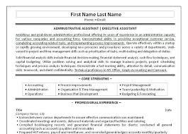 Administrative Assistant Skills Resume Elegant 10 Best Executive Templates Samples Images Of