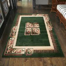 details zu teppich wohnzimmer klassisch griechisch grün läufer s 200x300 300x400 mehr