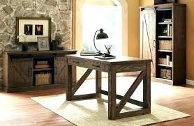 Rustic Wood Office Desk Home Oak Furniture Corner Solid Accessories For Men