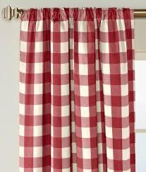 rod pocket curtains drapes buffalo check panel country curtains
