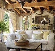 Fabulous Fireplace Makeover Decorating Ideas For Porch Mediterranean Design With Beams Candelabra Chairs